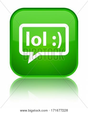 Lol Bubble Icon Shiny Green Square Button