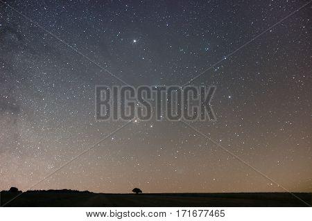 Night Background. Night Starry Sky. Night Sky With Stars