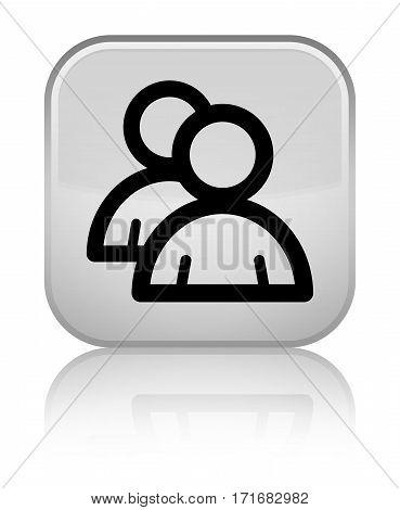 Group Icon Shiny White Square Button