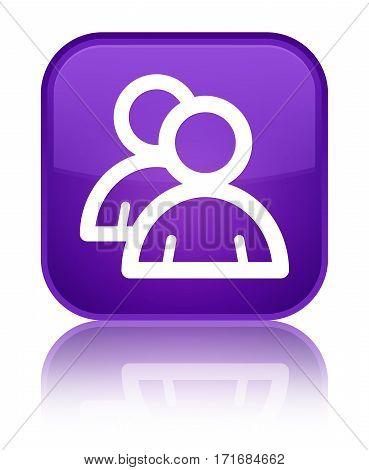 Group Icon Shiny Purple Square Button