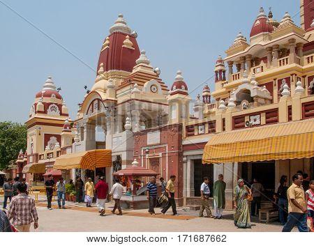 NEW DELHI, INDIA. 30 may 2009:  The temple of goddess Lakshmi-Narayan.  New Delhi, India