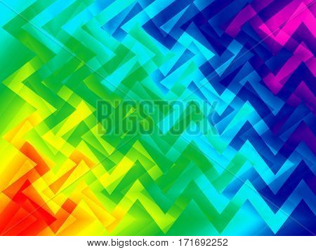 background with irregular pattern of shapes in crazy bright rainbow colors
