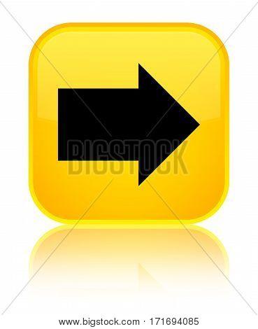Next Arrow Icon Shiny Yellow Square Button