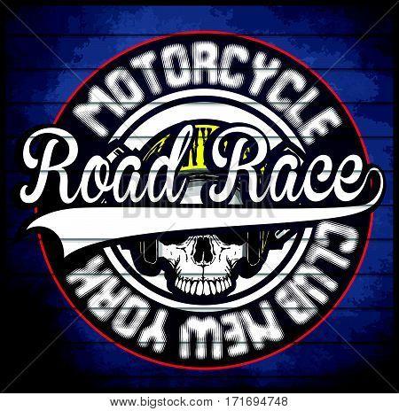 Motorcycle Helmet Typography New York Sports Club