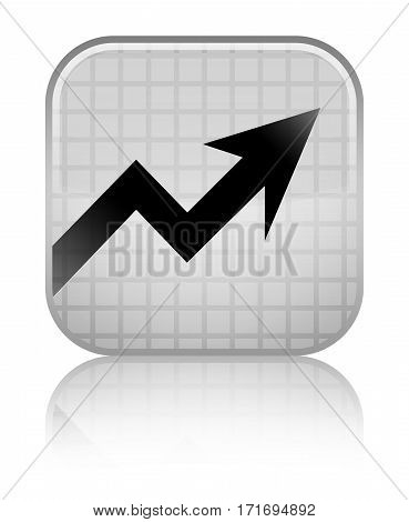 Business Graph Icon Shiny White Square Button