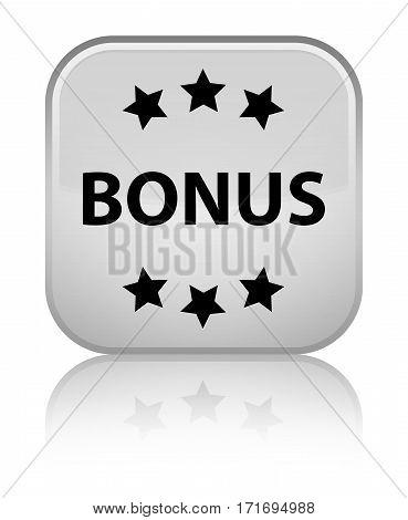 Bonus (stars) Icon Shiny White Square Button