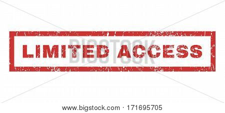 Limited Access text rubber seal stamp watermark. Caption inside rectangular shape with grunge design and dust texture. Horizontal vector red ink sticker on a white background.