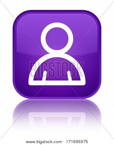 Member Icon Shiny Purple Square Button