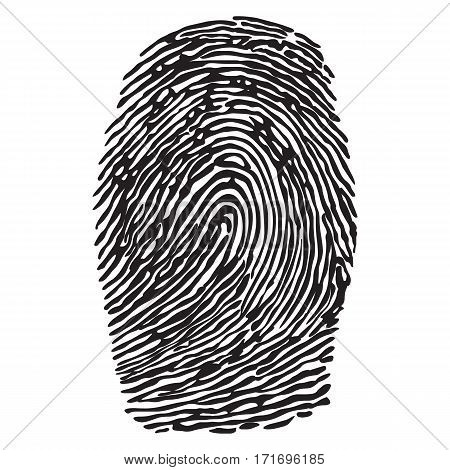Save Download Preview Realistic fingerprint isolated on a white background. Fingerprint icon. Black fingerprint. Vector fingerprint.