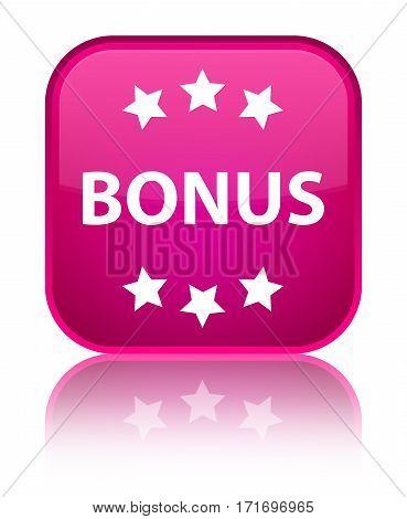 Bonus (stars) Icon Shiny Pink Square Button