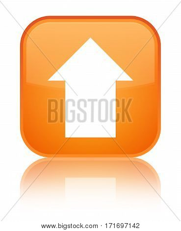 Upload Arrow Icon Shiny Orange Square Button