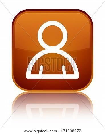Member Icon Shiny Brown Square Button