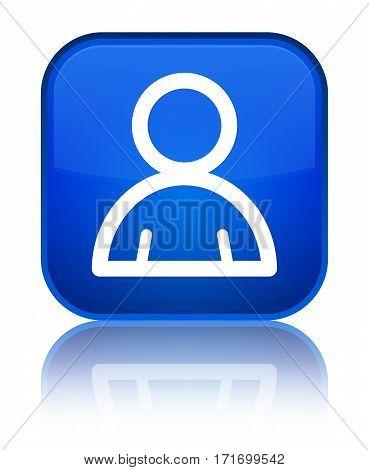 Member Icon Shiny Blue Square Button