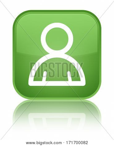 Member Icon Shiny Soft Green Square Button