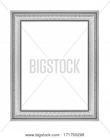 The silver frame isolated on white background
