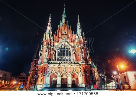 Joseph Church - the historic Roman Catholic church in the south-central part of Krakow, Poland. It was built 1905-1909 years