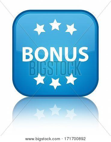 Bonus (stars) Icon Shiny Cyan Blue Square Button