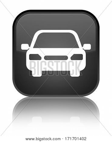Car Icon Shiny Black Square Button