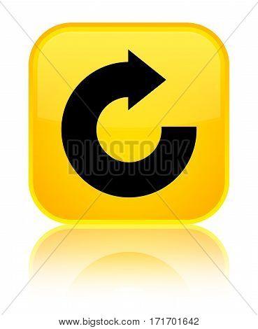 Reply Arrow Icon Shiny Yellow Square Button