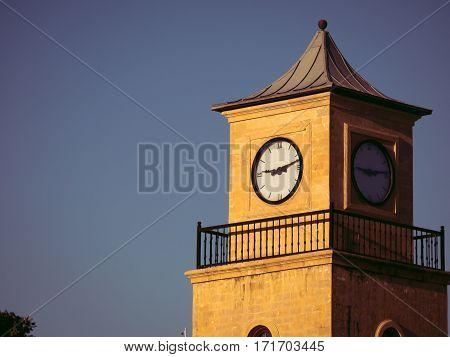 Clock tower, Landmark buiding in Marmaris, Turkey