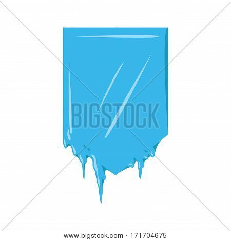 Collection of frozen icicle snow winter vector banner. Ribbon label emblem. Winter New Year sale or Christmas discount decoration celebration isolated icon