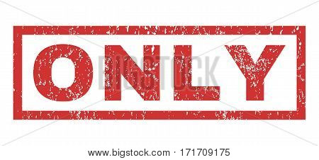 Only text rubber seal stamp watermark. Tag inside rectangular banner with grunge design and dust texture. Horizontal vector red ink sign on a white background.
