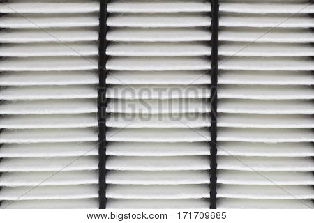 Close up of Automobile Air Filter Background