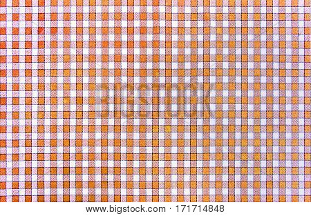 Cheerful classic rustic traditional gingham pattern in red and white