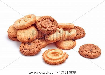 sweet biscuits variation cookies isolated on white