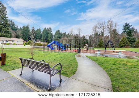 Children Playground Activities On A Rainy Day