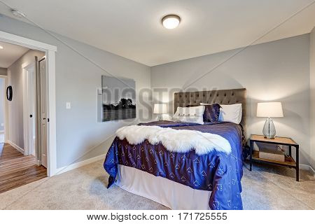 Lovely Master Bedroom With Soft Grey Walls