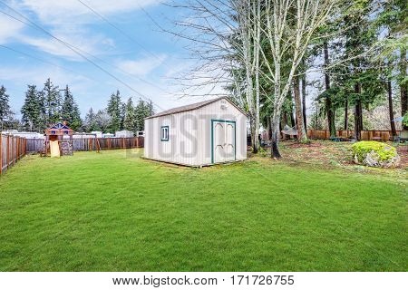 Fully Fenced Grass Filled  Backyard With Lots Of Space