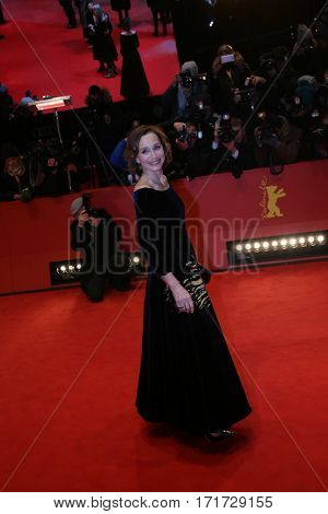Kristin Scott Thomas during the 'The Party' premiere during the 67th Berlinale  Film Festival Berlin at Berlinale Palace on February 13, 2017 in Berlin, Germany.
