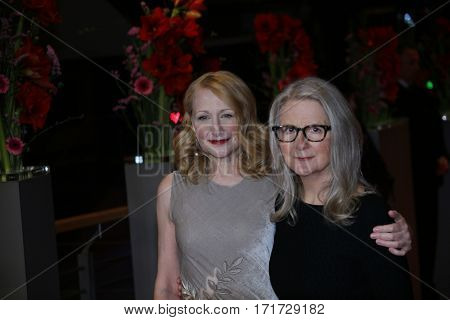 Patricia Clarkson, Sally Potter during the 'The Party' premiere during the 67th Berlinale  Film Festival Berlin at Berlinale Palace on February 13, 2017 in Berlin, Germany.