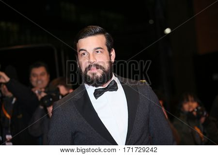 Actor Mario Casas attends the 'The Bar' (El Bar) premiere during the 67th Berlinale International Film Festival Berlin at Berlinale Palace on February 15, 2017 in Berlin, Germany.