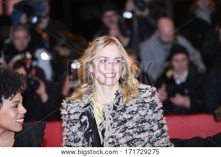 Nina Hoss attends the 'Return to Montauk' (Rueckkehr nach Montauk) ' premiere during the 67th Berlinale Film Festival Berlin at Berlinale Palace on February 15, 2017 in Berlin, Germany.
