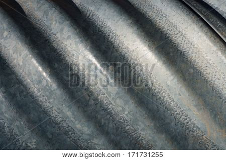 A Grey Corrugated Metal Background With Texture