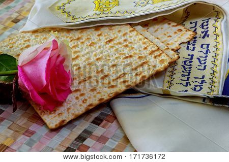 Jewish Holidays Matza Bread For Passover Celebration