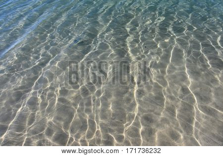 Ocean clear water. Deep blue sea waves. Pool water photo. Summer theme background. Travel and tropical resort concept. The illustration of water surface. Ideal swimming pool sea and ocean texture.