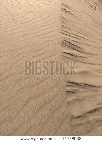 Aerial view to sand desert - natural background
