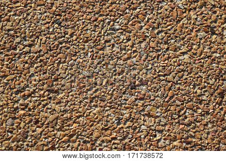 Sand wash gravel texture and Ideal for decorat the outside.