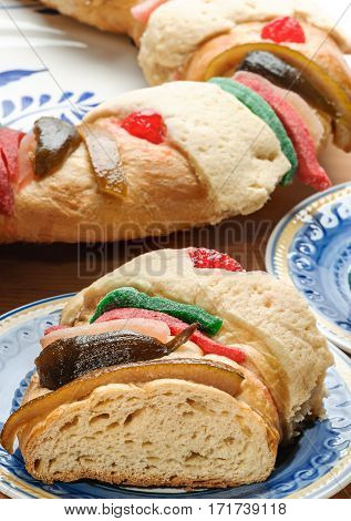 Epiphany cake Kings cake or Rosca de reyes