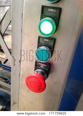 Switch on off Control of electrical system Factory
