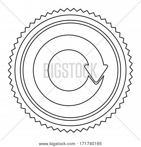 circular frame contour with circular reuse symbol vector illustration