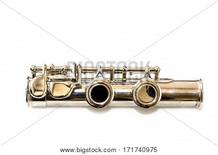Part of flute isolated on a white background