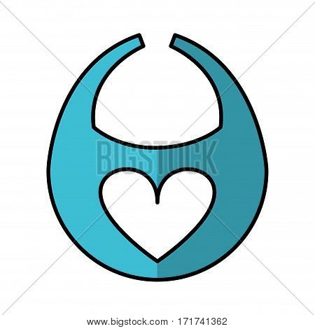 baby bib isolated icon vector illustration design