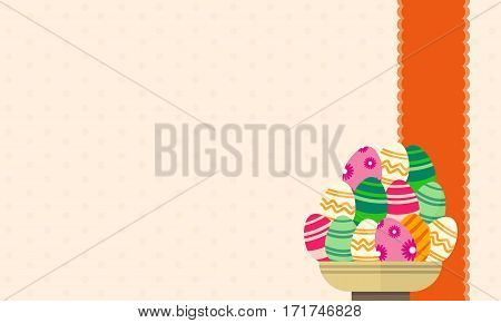 Vector art easter egg backgrounds collection stock