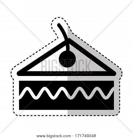 delicious cake portion isolated icon vector illustration design