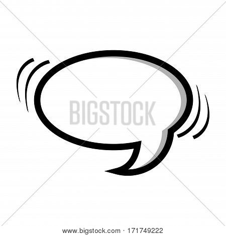 monochrome silhouette oval shape dialog box vector illustration
