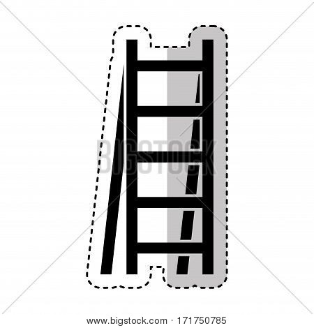 stair construction tool isolated icon vector illustration design